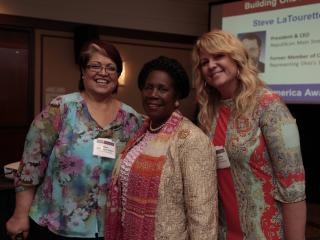 Mayor Lopez Rogers of Avondale, AZ with Congresswoman Sheila Jackson Lee (D-TX) and Stacey Olsen of NJ
