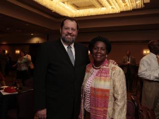 Congressman Steve LaTourette and Congresswoman Sheila Jackson Lee (D-TX)