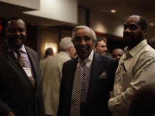 Congressman Charlie Rangel (D-NY) with BOA leaders