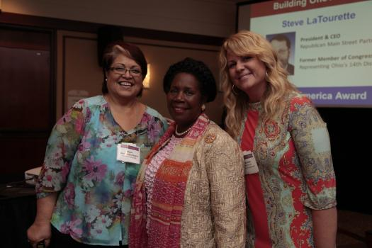 Mayor Lopez Rogers of Avondale, AZ with Congresswoman Sheila Jackson Lee (D-TX) and Stacey Olsen of NJ